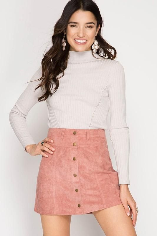 e617903bb90 Please Persuade Me Yes' Skirt - Dusty Pink in 2019 | Products | Pink ...