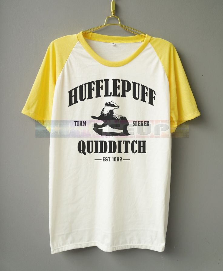 Hufflepuff Quidditch Shirt Hufflepuff Shirt Harry Potter Shirt Hogwarts Alumni Shirt Short Sleeve Shirt Jersey Shirt Raglan Baseball Shirt Women Shirt Men Shirt