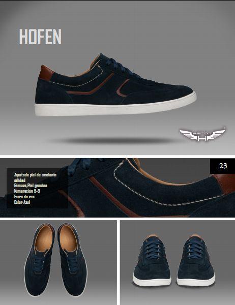 #Calzado modelo hofen, color azul. #moda