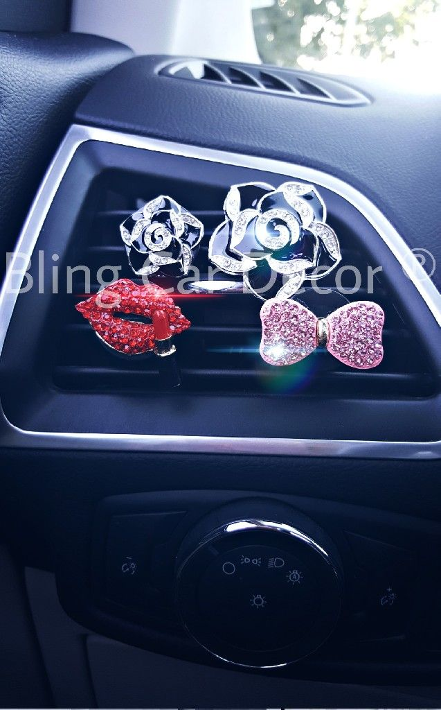 Auto Air Vent Clip Charms, Crystal Car Interior Decoration Charms