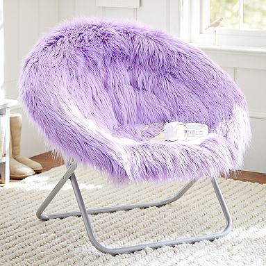 Fur-Rific Lilac Hang-A-Round Chair   - remind me of a monsters inc chair :):):) ceee