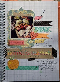 Life is a Canvas: Smash Book Challenge Day 23  farmers market