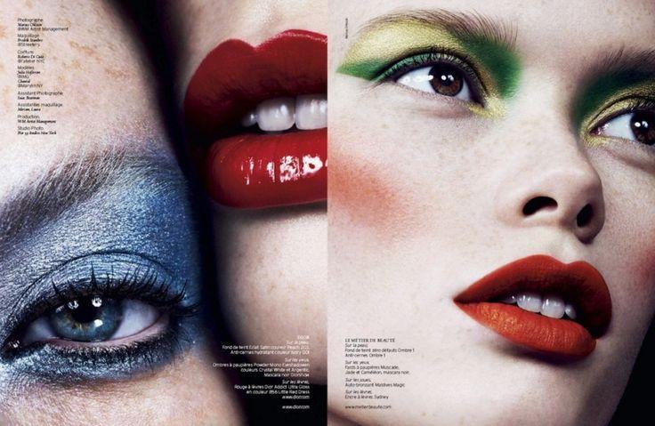 Magazine: French Revue De Modes #22 Title: Double Face Photographer: Marcus Ohlsson Models: Julia Hafstrom and Chantal Hair: Roberto Di Cula Makeup: Fredrik Stambro