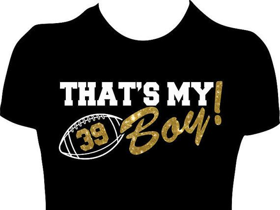 Customized 'That's My Boy' Football Mom Shirt, Women's Personalized Football Mom Glitter Tshirt with Number Pee Wee Football, High School, College (Tee can also be done without glitter...)  Here at GlitzyTees we specialized in Custom Glitter T-Shirt for Cheer Moms, Sport Moms and all does Spirit Mom that want to stand out while cheering for their kids. Here at GlitzyTees we Specialized in Custom T-Shirt and Decals for Sports/Teams, Schools, Parties/Events, College, Business…