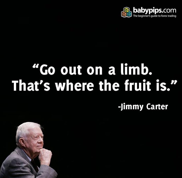 ~ Jimmy Carter -Quotes - Words - Motivational - Inspirational - Go out on a limb