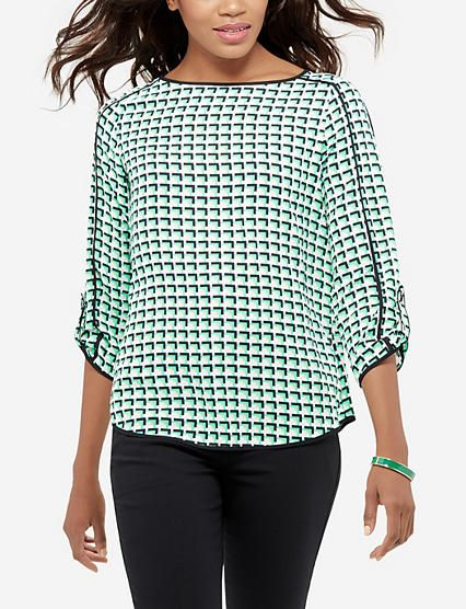 Printed Blouse from THELIMITED.com