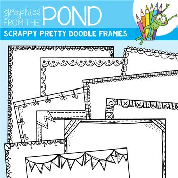 Scrappy Pretty Doodle Frames will help make your next teaching file or classroom resource, pop!  In this set you will find 20 individual files to use in your latest teaching resource files.