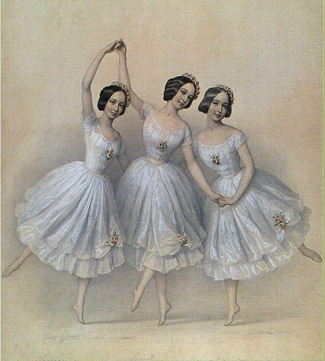 Картинки, старинные балерины открытки