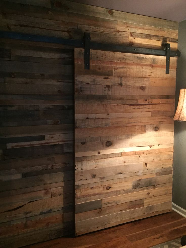 Reclaimed Wood Wall And Sliding Barn Type Door Howell