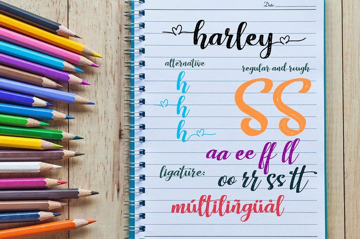 Really excited to introduce Harley Script is a handlettering typeface!