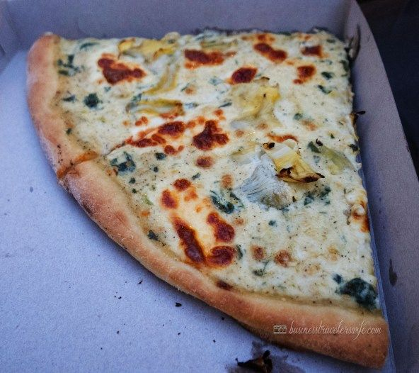 Artichoke Basille's Pizza Location: Several locations in NYC (I highly suggest ordering a slice of pizza from 114 10th Ave and eating at High Line for a beautiful view) Price: $5/slice