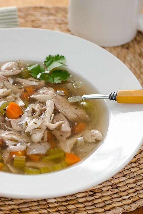 Clean Eating Crock Pot Chicken Soup Recipe