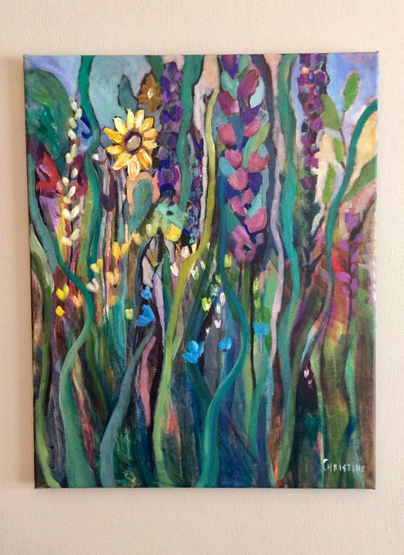 Dreaming of Spring 16 x 20 inches original acrylic painting