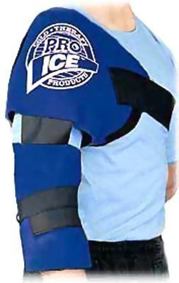 Pro Ice PI200 Shoulder/Elbow Ice Pack by Pro Ice. $34.99. Pro Ice Shoulder and Elbow Ice Pack The premier shoulder and elbow wrap! The most convienent arm cooler made. Pro Ice's shoulder, upper arm and elbow wrap covers the rotator cuff, upper arm, and elbow for cold therapy prevententive injury maintenance. Uses a water-based freezing element, not a gel. Hook and loop straps make it easy to wear. When applied ice pack can last up to 1 hour. Available in Junior size for ...