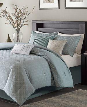 Madison Home USA Biloxi 7-Pc. Geometric Jacquard California King Comforter Set Bedding