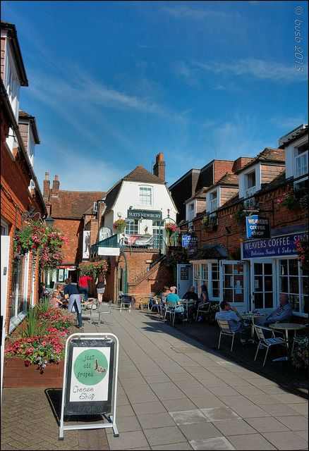 Weaver's  walk,  Newbury, England.  The coffee shop on the right is excellent.