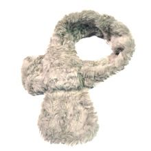 Winter Sjaal Voor Vrouwen Faux Fur Sjaal Kraag Effen Beige/Zwart mode Zachte Pluizige Hals Cirkel Ring Sjaal Vrouwelijke Nep Bont kraag(China)