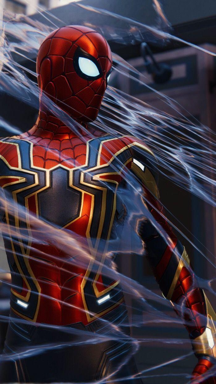 El Iron Spider Hombre Arana Comic Spiderman Personajes Fondo De Pantalla De Iron Man