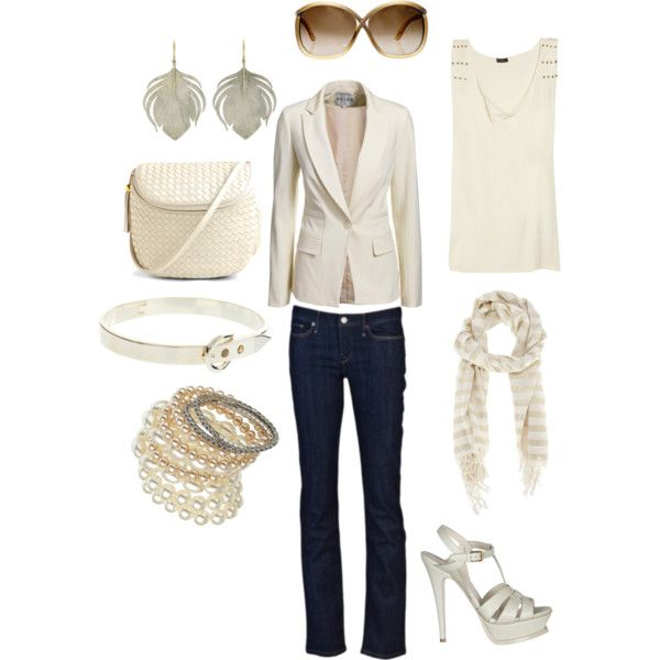 Beige blazer casual outfit