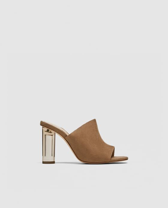 0f48fdf7e22 Image 2 of MULES WITH METHACRYLATE HEEL from Zara