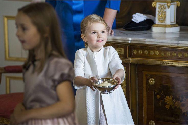 La princesse Estelle de Suède au château de Drottningholm, le 11 octobre 2015