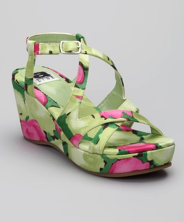 Take a look at this A Line Fuchsia & Green Wedge on zulily today!