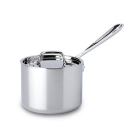 #10: All Clad Stainless Steel 2-Quart Sauce Pan with Lid.Stainlesssteel Saucepan, Triply Stainlesssteel, Stainlesssteel Sauces