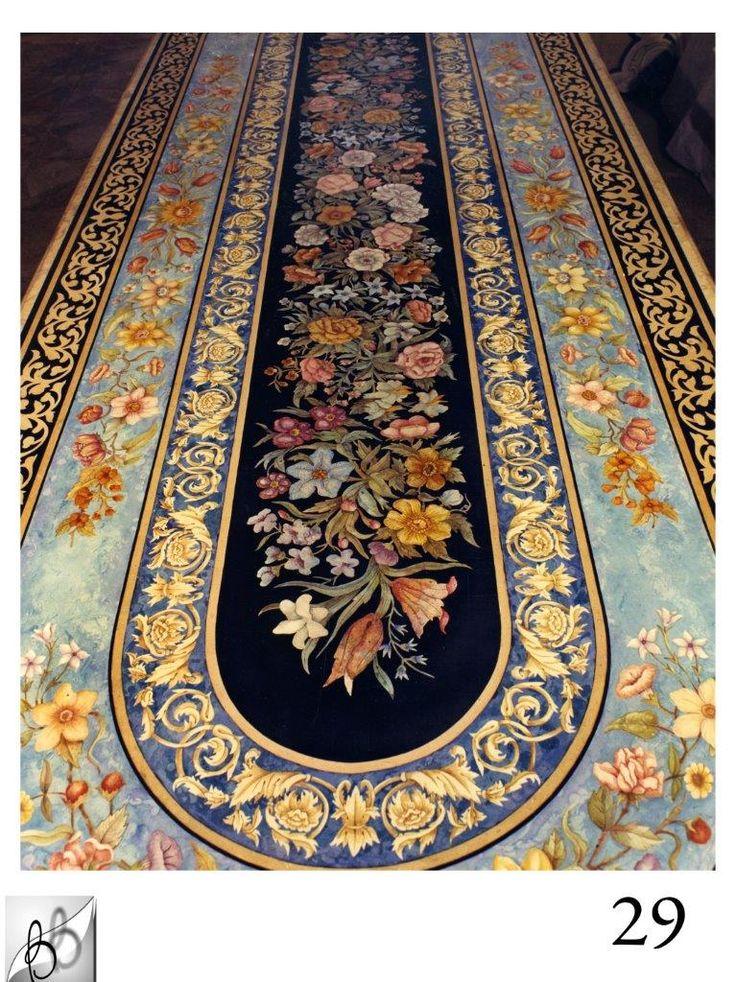 Grande Tavolo intarsiato in scagliola realizzato dalla nostra bottega