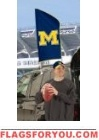 "Michigan Wolverines ""M"" Tailgate Flag 42"" x 20"""