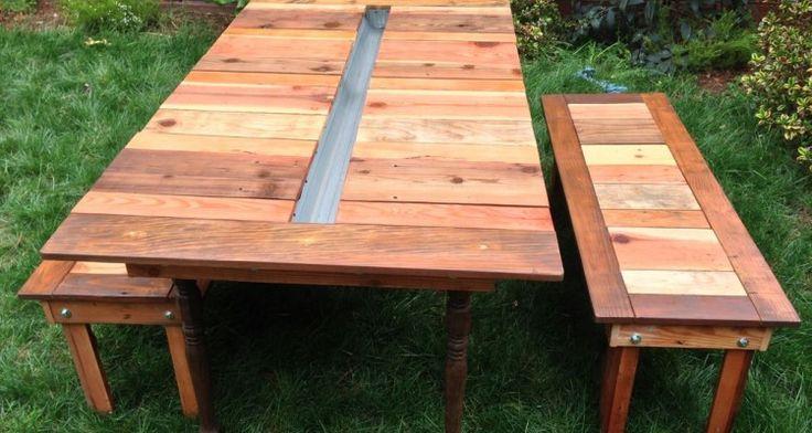 15 Adorable Outdoor Table Bench Seats Idea