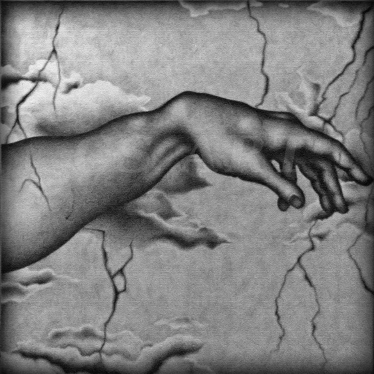 """Parte sinistra della tela """"Creazione"""", realizzata su tela 100x100 cm, a carboncino.  http://www.cs4rt.com/portfolio #disegnoSuTela #carboncino #disegno #grafica2D #tela #draw #CreazioneDiAdamo #Creazione #Michelangelo"""