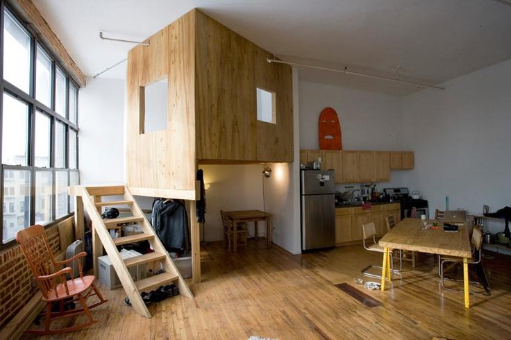 Indoor treehouse