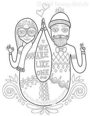 We Are Like One Coloring Page by