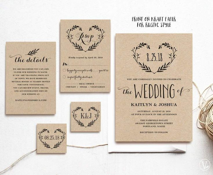 This Wedding Invitation Set Includes Five High Resolution Templates In Three Colors Black Navy Blue Blush Pink Card Versions