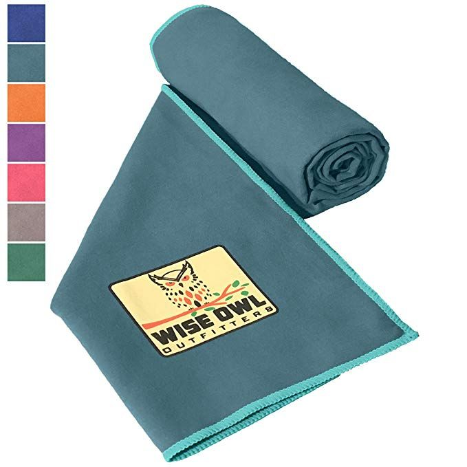 Wise Owl Outfitters Camping Towel Ultra Soft Compact Quick Dry Microfiber Best Fitness Beach Hiking Yoga T Camping Towel Backpack Sport Camping First Aid Kit