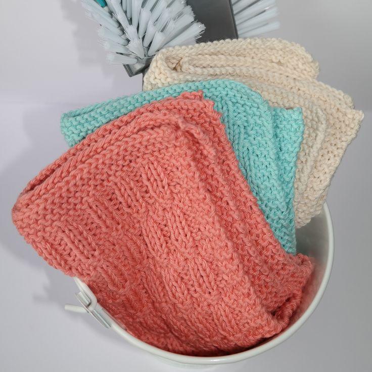 Vi har designet ny gratis strikkeoppskrift på kjøkkenkluter, og vi har som alltid brukt vårt favoritt garn