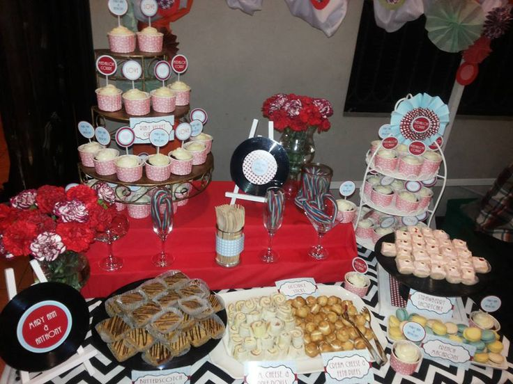 mod dessert buffet table