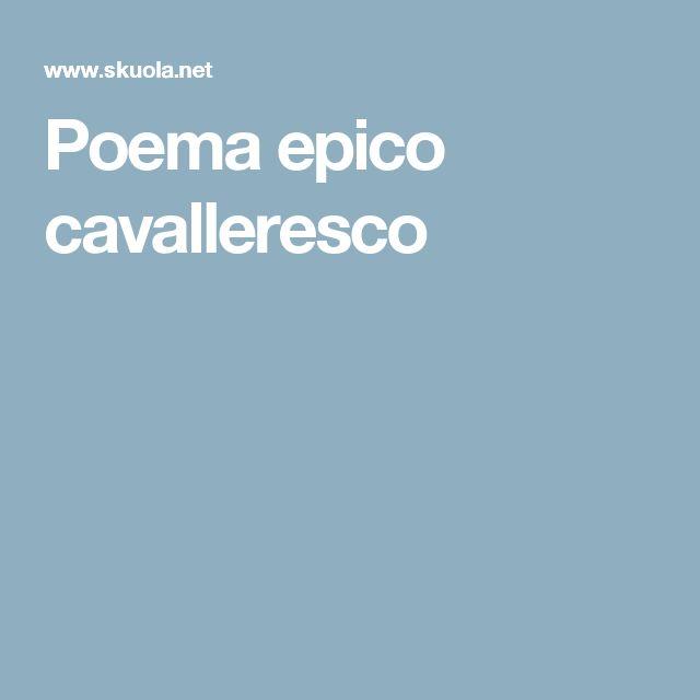 Poema epico cavalleresco