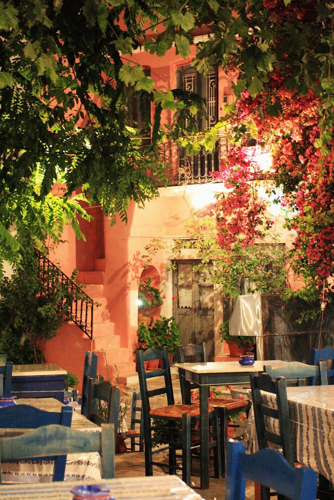 The village square, Halki, Naxos, Greece