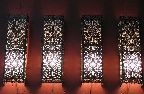laser cut light fixture. Deck out your house with illuminated designs.