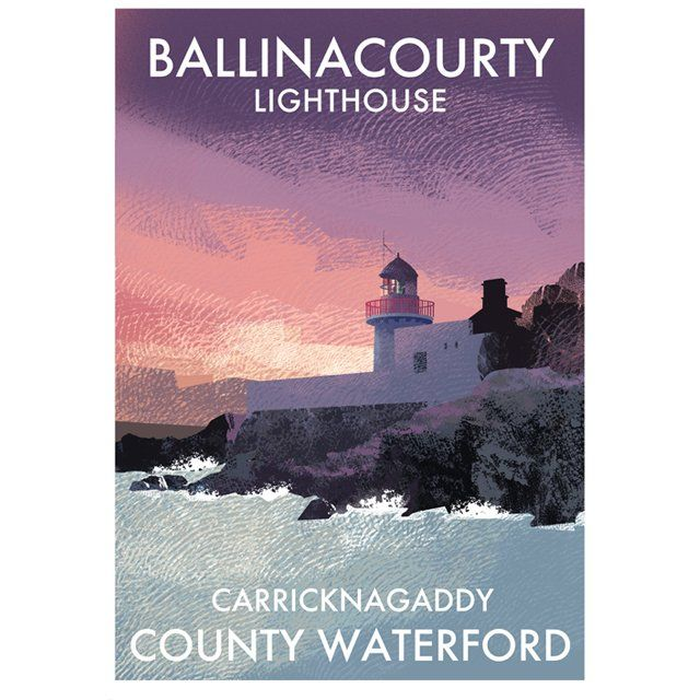 A4 or A3 print of Ballinacourty Lighthouse on the Waterford coast in Ireland's South East. Printed 250g/m² art print paper Artist: Roger...