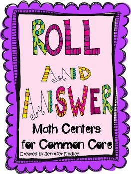 Roll and Answer Math Games for Common Core: Grade Math, Math Games, Math Centers, Common Core Math, Teaching Ideas, 5Th Grade, Common Cores, 2Nd Grade, Answer Math