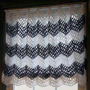 Chevron Crochet Curtains | AllFreeCrochet.com