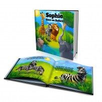 "Personalised Hard Cover Story Book:   ""The Safari"" / Dinkleboo"