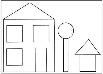 Preschool House Shape Template Shapes Pinte