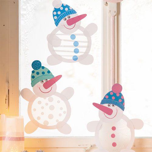 Schneemänner, Bastelset für 6 Stück - Vergnügte Fenster-Schneemänner ♥ sorgfältig ausgewählt ♥ Jetzt online bestellen!