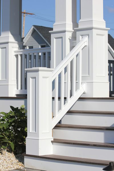 Recessed paneled columns and newels custom pvc exterior for Decorative exterior columns
