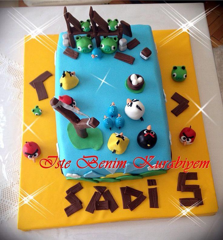 Angrybirds cake angrybirds