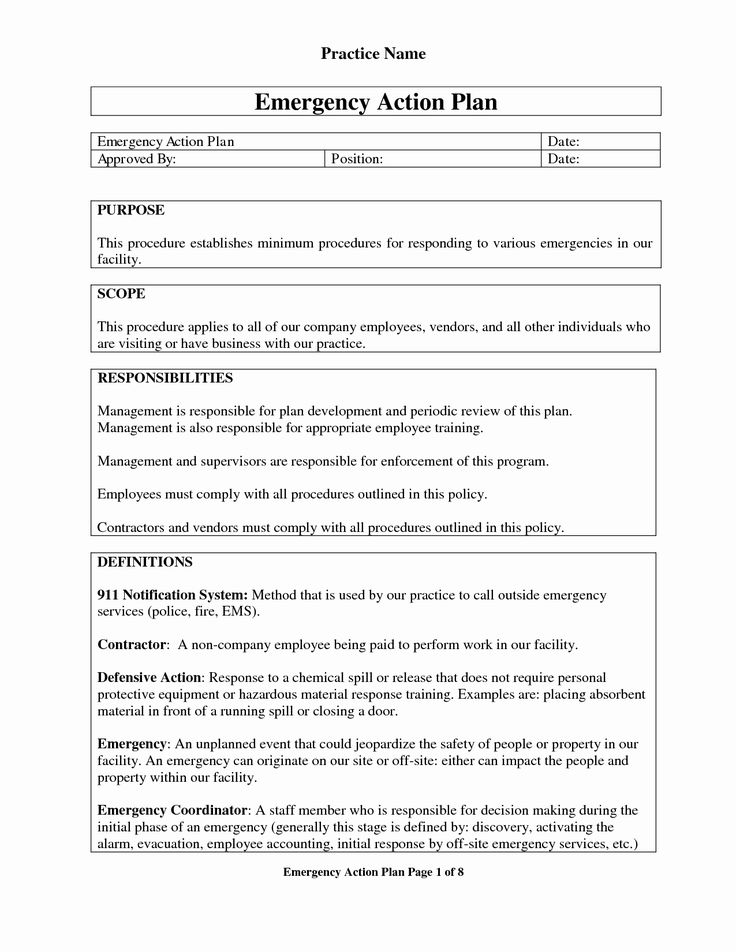 Osha Emergency Action Plan Template Beautiful Emergency