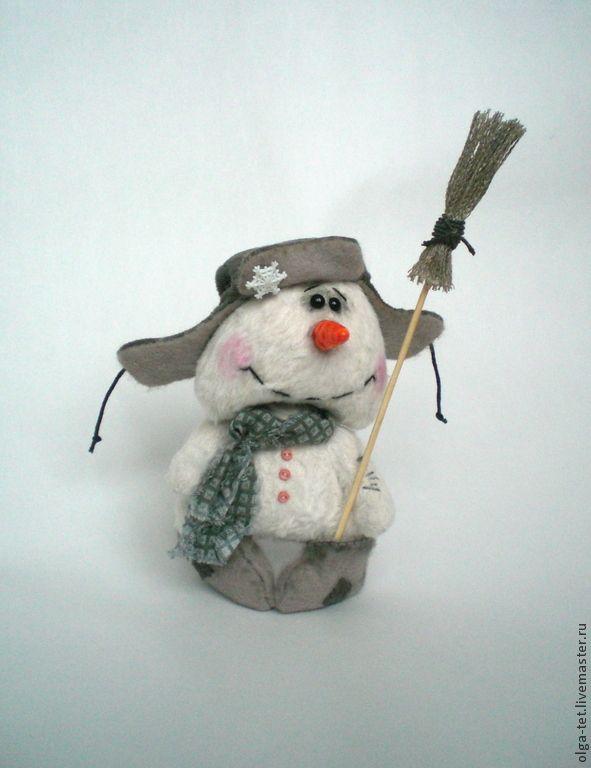 Купить Егорка. - белый, серый цвет, оранжевый, мишки тедди, мишка ручной работы, снеговик
